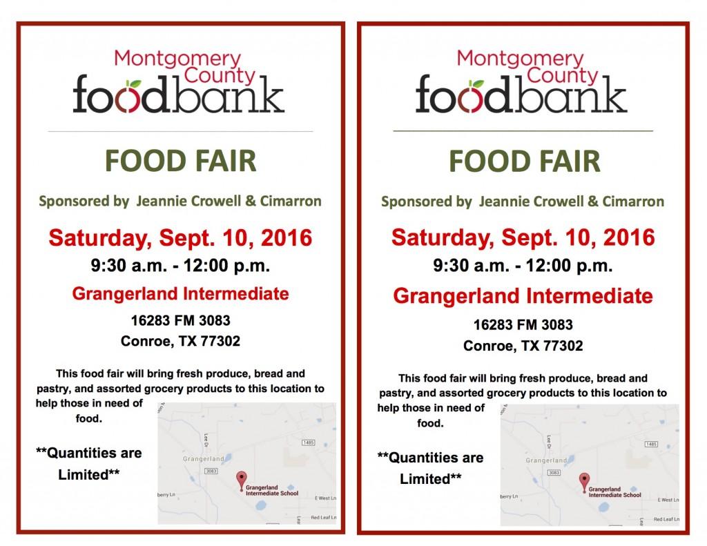 Flyer for Grangerland Intermediate Food Fair 9.10.16 copy