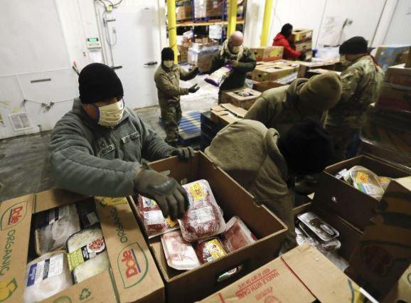 National Guard Helping MC Food Bank 2