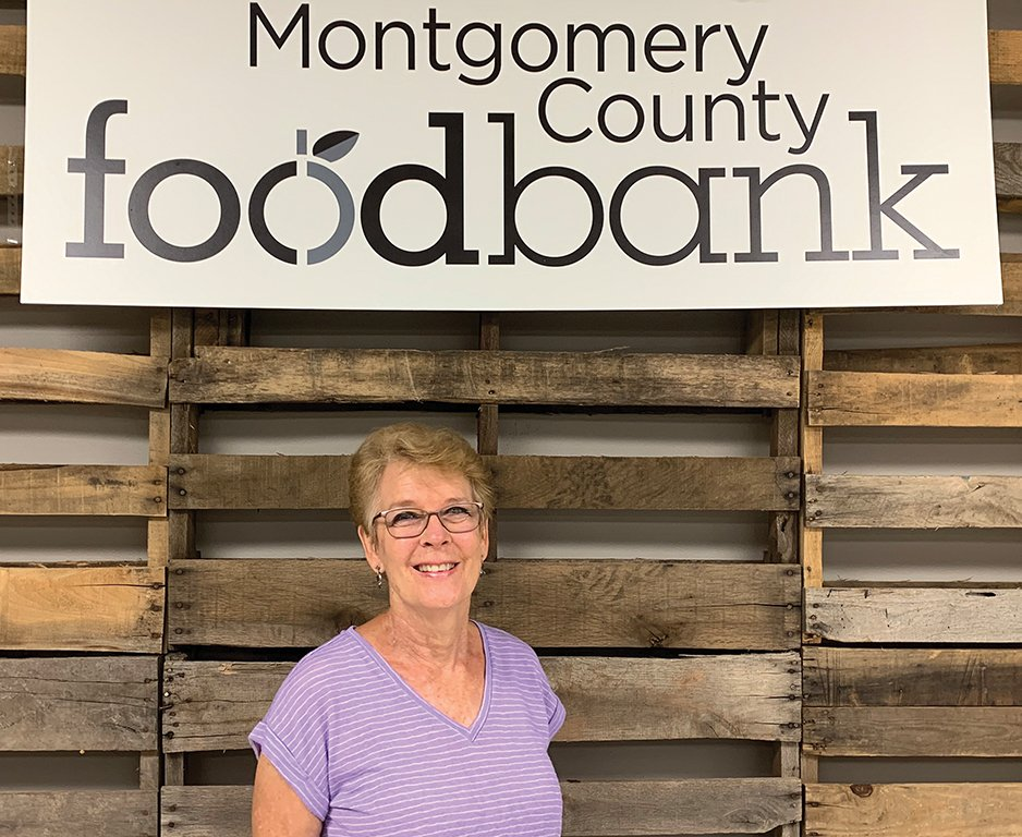 Carol loves volunteering at Montgomery County Food Bank