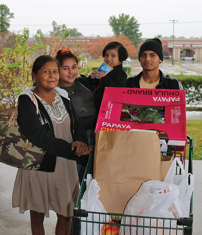 Tania and her family are grateful for the good, nutritious food they received.