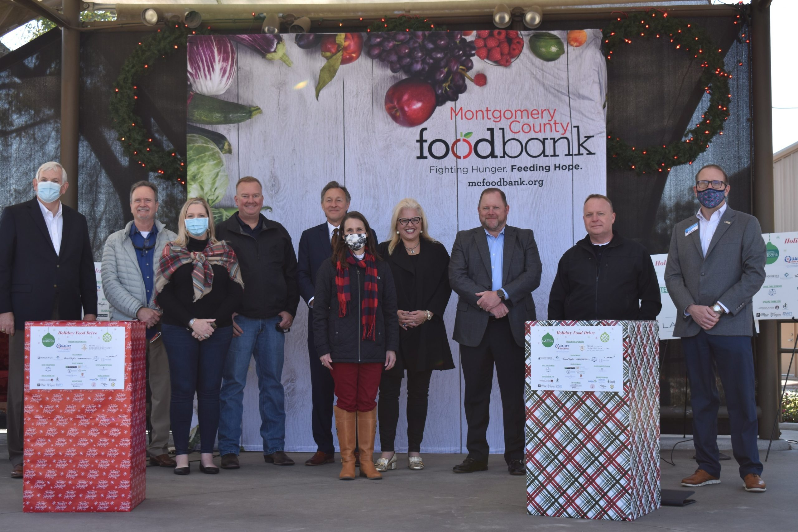 Holiday food drive sponsors
